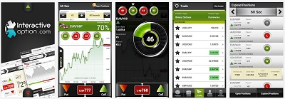 Application mobile d'InteractiveOption