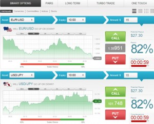 capture d'écran du broker Interactive Option